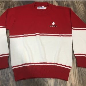VTG Indiana University Hoosiers sweater size L USA